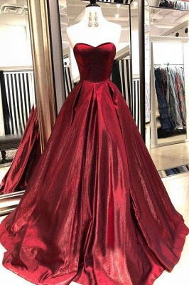 Thick Stain Sweetheart Prom Dresses | Ruffle  Sleeveless Evening Dresses_2