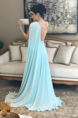 Glamorous Ruffle Lace Appliques Oneshoulder Prom Dresses | A-Line Over-Skirt Sleeveless Evening Dresses_3