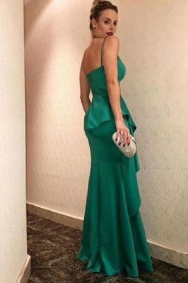 Ruffles Spaghetti-Straps Prom Dresses |Popular Sexy Mermaid Sleeveless Evening Dresses_2