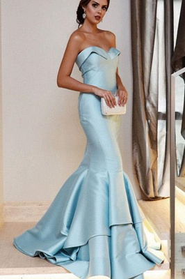 Sequin Ruffle Sweetheart Prom Dresses |  Sexy Mermaid Sleeveless Evening Dresses_1