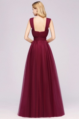 A-Line Chiffon Sweetheart Straps Sleeves Floor-Length Bridesmaid Dresses with Ruffles | Suzhoudress UK_2