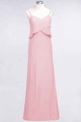 Elegant Halter Chiffon Long Bridesmaid Dress BM1576_4