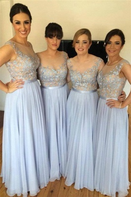 Lace Appliques Chiffon Bridesmaid Dress   Long Dresses for Bridesmaid  BA4050_2