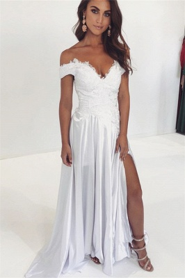 Stunning A-line Off-the-Shoulder Lace Wedding Dresses Sleeveless Appliques Ruffles Bridal Gowns On Sale