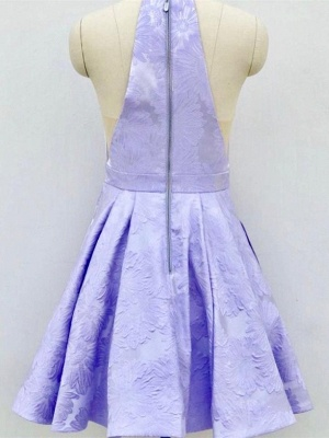 Deep-V-Neck Halter Appliques A-Line Sleeveless Homecoming Dress_6