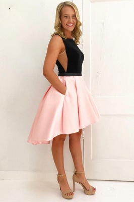 Chic Hi-Lo Jewel Sleeveless Homecoming Dress