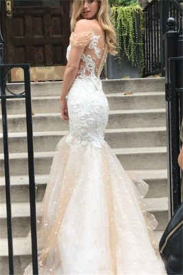 Mermaid Off-the-Shoulder Wedding Dress | Tulle Appliques Bridal Gowns WW0104_3