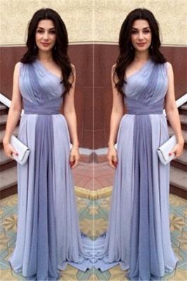 Junoesque Multi Colors One Shoulder Prom Dresses Popular Ombre Bridesmaid Dress_2