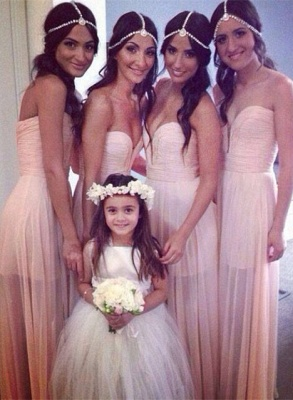Bridesmaid Dresses  Sweetheart Sleeveless A Line See Through  Party Gowns_1