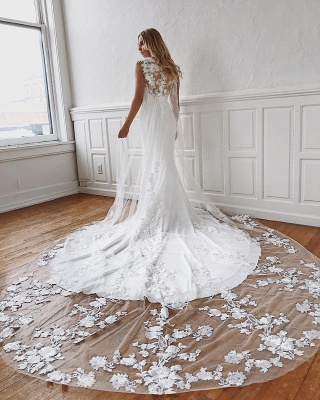 Affordable Lace Appliques Mermaid Wedding Dresses | Bridal Gowns Online_2