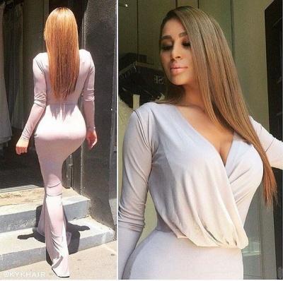Floor Length Bodycon Evening Gowns  Long Sleeve V-neck Elegant Bridesmaid Dress_3