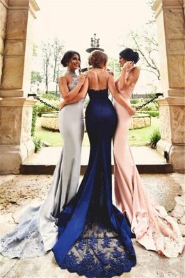 Lace Sexy Appliques Halter Neck   Open-Back Halter Bridesmaid Dresses_3