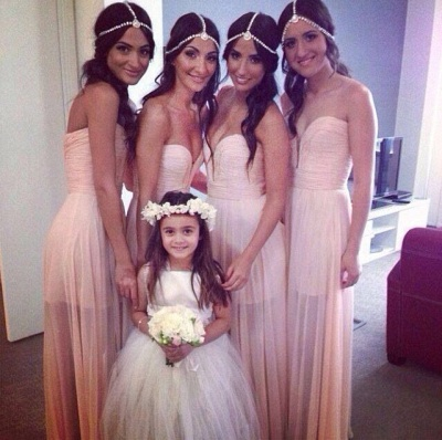 Bridesmaid Dresses  Sweetheart Sleeveless A Line See Through  Party Gowns_2