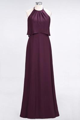 A-line Chiffon Jewel Summer Floor-Length Bridesmaid Dress UK_1