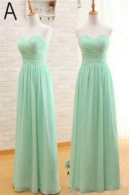 Light Green Ruffles Chiffon Long Bridesmaid Dress  Diverse Popular Dresses for Women_1