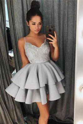 Exquisite Lace Spaghetti-Straps Sleeveless Homecoming Dress_4