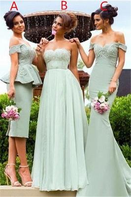 Mermaid Gorgeous Lace Off-the-Shoulder Bridesmaid Dress_2