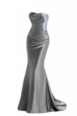 Silver Mermaid  Sexy Long Evening Dresses with Sparkly Sequins Long Train Cheap Bridesmaid Dresses LFC036_2