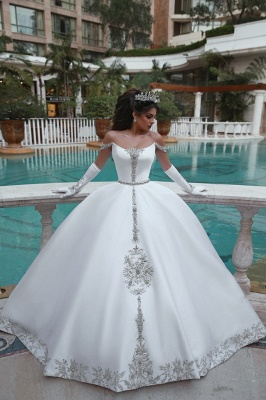 Elegant Ball Gown Off-the-Shoulder Appliques Wedding Dress | Bridal Gowns On Sale_6