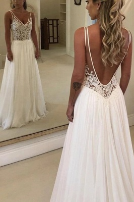 Elegant Lace Summer Beach Wedding Dress Long Online
