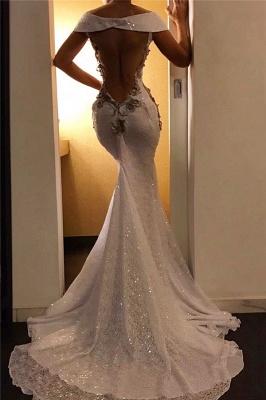Elegant Off-the-Shoulder Sweep Train Prom Dresses Mermaid Sweetheart Evening Dresses_2