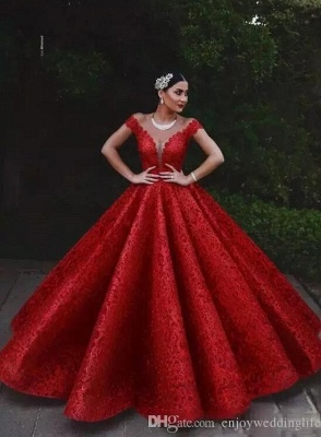 Gorgeous Off-the-Shoulder Appliques A-Line Teenage Womens V-Neck Online Prom Dress Sale | Suzhoudress UK_2