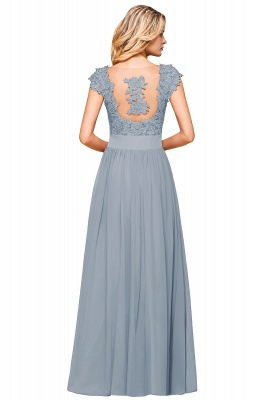 Modest Cap Sleeve Scoop Lace Beading Long Prom Dresses A-Line Chiffon Prom Dresses_21