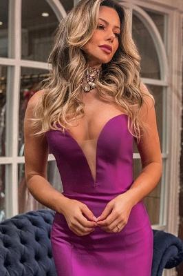 Elegant Sweetheart Sleeveless Prom Dresses Backless Ruffles Tiered Long Mermaid Formal Party Dresses_2