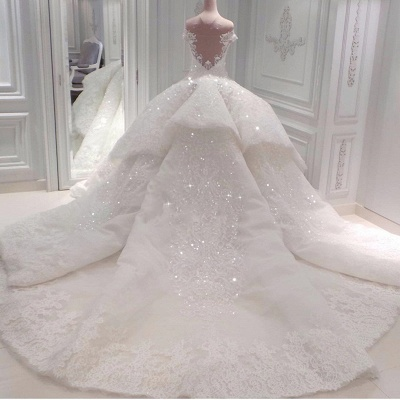 Luxurious Sweetheart Off-the-Shoulder Wedding Dresses Sleeveless Bridal Gown with Rhinestones Online_2