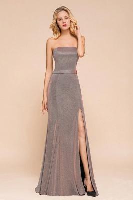 Stunning Strapless Stormy Prom Dresses  High Slit Formal Dresses Online_7