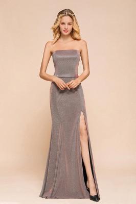 Stunning Strapless Stormy Prom Dresses  High Slit Formal Dresses Online_1