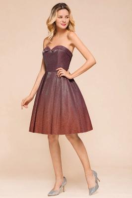 Glamorous Sweetheart Sleeveless Backless Prom Dresses  A-Line Short Formal Dresses_7