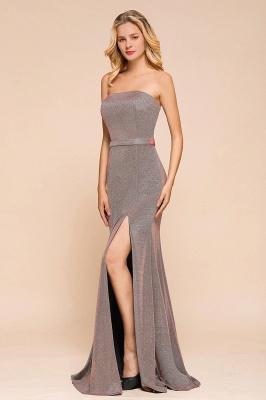 Stunning Strapless Stormy Prom Dresses  High Slit Formal Dresses Online_6