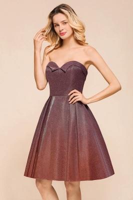 Glamorous Sweetheart Sleeveless Backless Prom Dresses  A-Line Short Formal Dresses_8