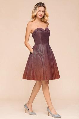 Glamorous Sweetheart Sleeveless Backless Prom Dresses  A-Line Short Formal Dresses_5