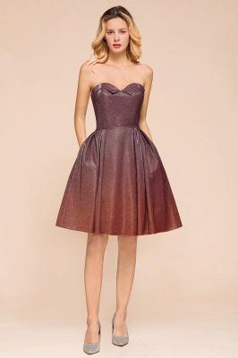 Glamorous Sweetheart Sleeveless Backless Prom Dresses  A-Line Short Formal Dresses_4