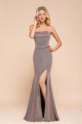 Stunning Strapless Stormy Prom Dresses  High Slit Formal Dresses Online_5