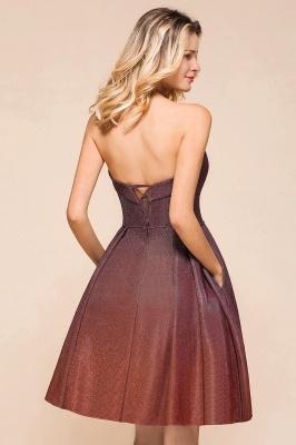 Glamorous Sweetheart Sleeveless Backless Prom Dresses  A-Line Short Formal Dresses_9