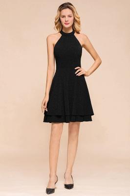 Glamorous Green Halter Sleeveless Sequined Short Prom Dresses Backless Sheath Formal Dresses_1