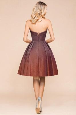 Glamorous Sweetheart Sleeveless Backless Prom Dresses  A-Line Short Formal Dresses_3