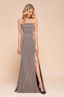Stunning Strapless Stormy Prom Dresses  High Slit Formal Dresses Online_4
