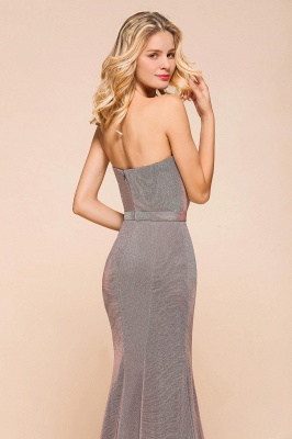 Stunning Strapless Stormy Prom Dresses  High Slit Formal Dresses Online_8
