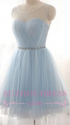 Newest   Party Dress A-line Beads Mini Baby Blue Homecoming Dress BA3644_2