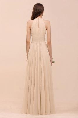 Elegant Halter Chiffon Long Bridesmaid Dress BM1576_36