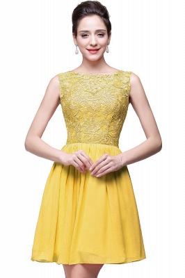 New A-line Chiffon Lace Zipper Short Homecoming Dress_2