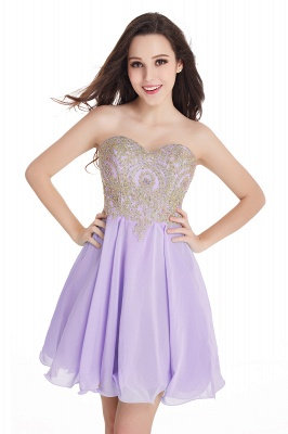 Sweetheart Cheap Mini Short Appliques Homecoming Dresses_6