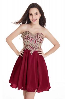 Sweetheart Cheap Mini Short Appliques Homecoming Dresses_3