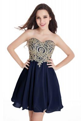 Sweetheart Cheap Mini Short Appliques Homecoming Dresses_8
