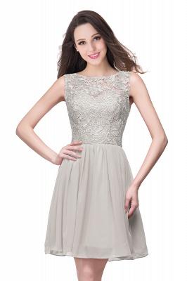 New A-line Chiffon Lace Zipper Short Homecoming Dress_7