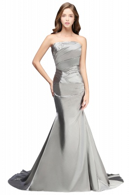 Silver Mermaid  Sexy Long Evening Dresses with Sparkly Sequins Long Train Cheap Bridesmaid Dresses LFC036_1